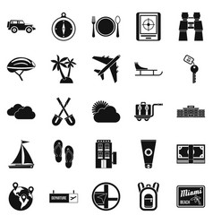One direction icons set simple style vector