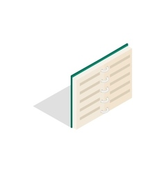 Open book in blue cover icon isometric 3d style vector