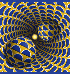 Optical balls are moving in mottled hole vector