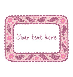 Original tablet with vintage flowers and doodles vector image