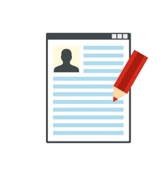 Paper sheet document and pencil flat icon vector