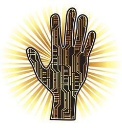 PCB hand vector