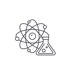 physics and chemistry line icon concept physics vector image
