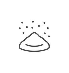 powdered sugar line outline icon vector image