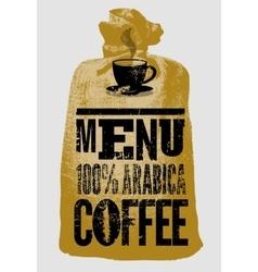 Premium coffee grunge retro background vector image