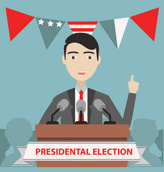 presidential election composition with flat design vector image