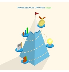 Professional growth concept isometric vector