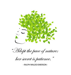 quotes for nature vector image