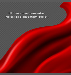 Red silk fabric abstract vector