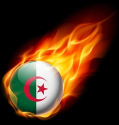 Round glossy icon of algeria vector