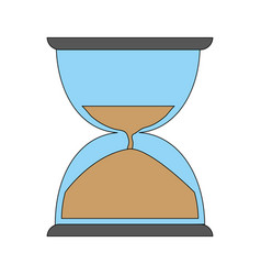 Sand hourglass icon vector