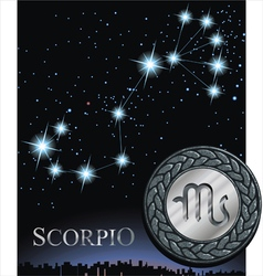 Scorpio zodiac sign scorpion logo vector
