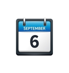 September 6 Calendar icon vector image
