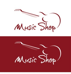 set music shop emblems vector image