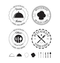 Set of restaurant logos labels vector