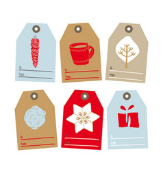 Set of tags for gifts for christmas vector