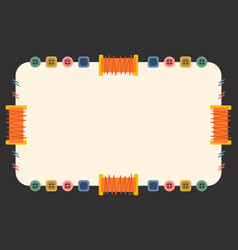 Sewing coupon template flat vector