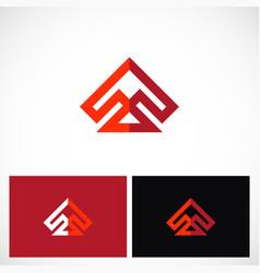 Shape prism arrow logo vector
