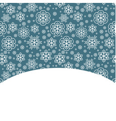 snow decorative background vector image