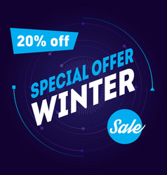 special offer sale 20 off winter sale banner vector image
