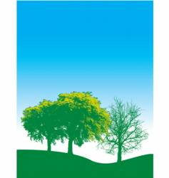 spring trees background vector image