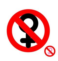 Stop women It is forbidden to be woman Frozen vector image
