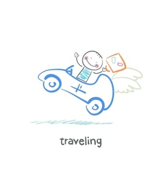 traveling vector image