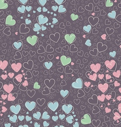 Trendy seamless pattern with cute hearts vector