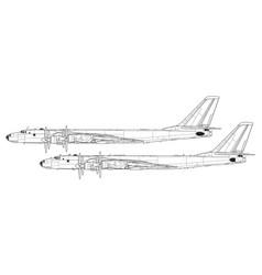 tupolev tu-95 bear vector image