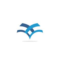 v shape line company logo vector image