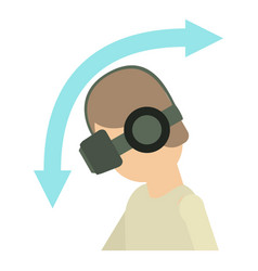Vr goggles icon cartoon style vector