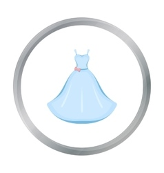 Wedding Dress icon of for web vector