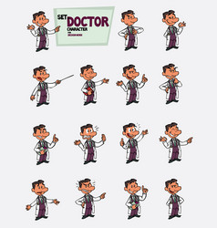 White doctor set of postures to 1 character vector