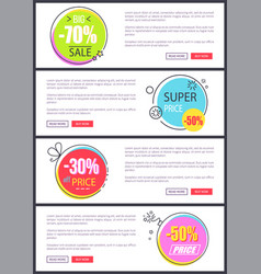 -70 big sale and super price vector image