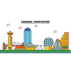 Canada vancouver city skyline architecture vector