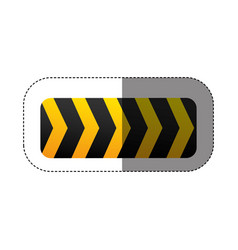 caution ribbon sign icon vector image vector image