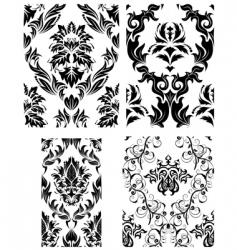 damask patterns vector image vector image