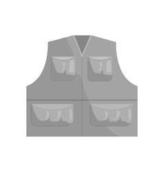 Hunter vest icon black monochrome style vector image vector image