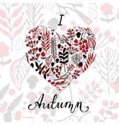 I love Autumn vector image