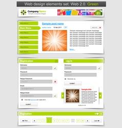 web design template set vector image vector image