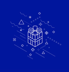 abstract gift box in winter space vector image