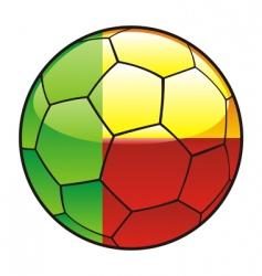 benin flag on soccer ball vector image vector image