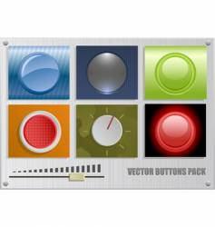 buttons pack vector image vector image