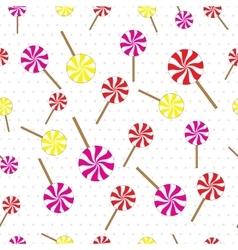 Lollipops seamless pattern vector image vector image