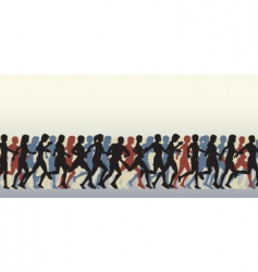 mass runners vector image vector image