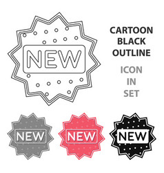 new icon in cartoon style isolated on white vector image