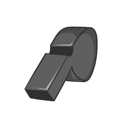 Whistle of referee icon black monochrome style vector image