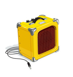 yellow guitar combo amplifier vector image