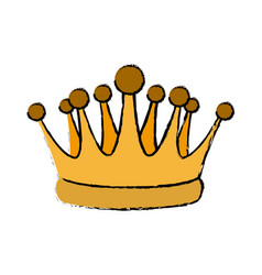 Gold crown royal luxury monarchy king vector