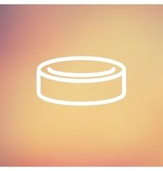 Hockey puck thin line icon vector image vector image